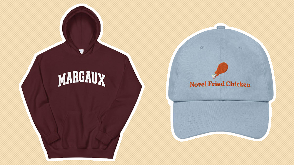 Pick your poison: Château Margaux hoodie or fried chicken cap?