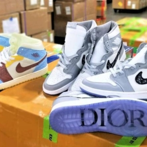 counterfeit Nike x Dior sneakers