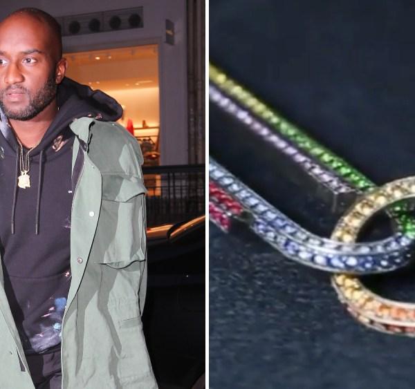 Virgil Abloh Jacob & Co. Office Supplies necklace