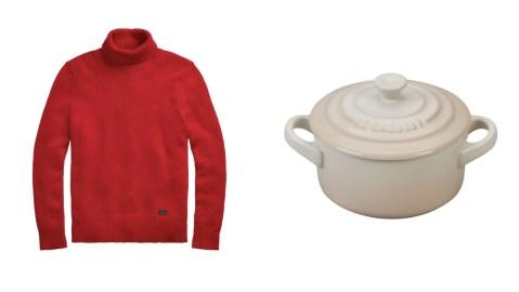 Ralph Lauren sweater Le Creuset cocotte