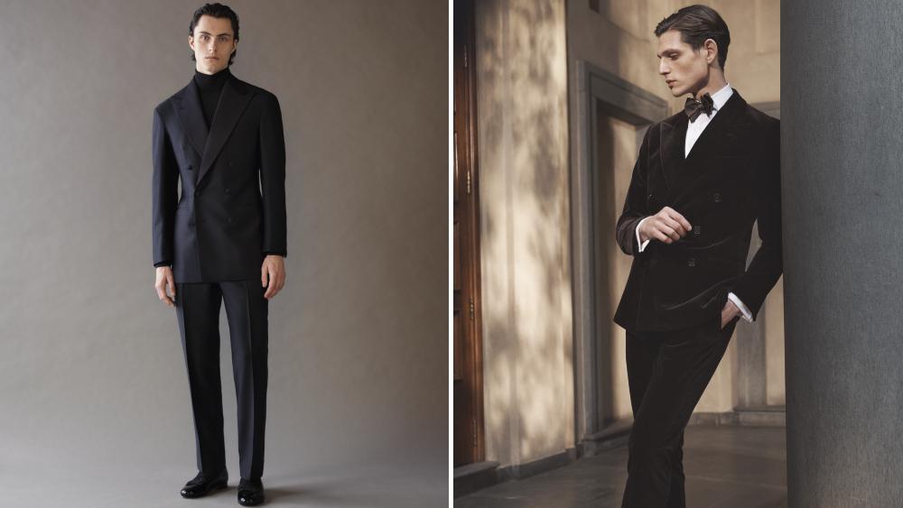 Saman Amel Ralph Lauren suits