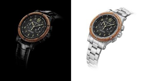 Ralph Lauren RL Automotive Chronograph Woodbezel Watch