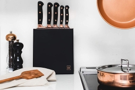 Styled Settings Copper Knife Set