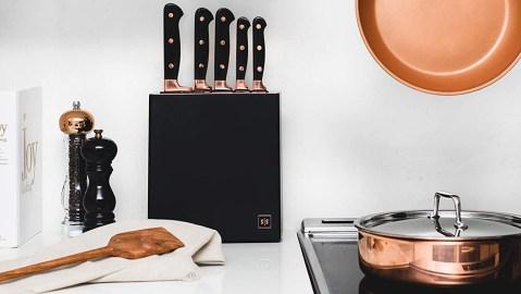 Styled Settings Copper Knife Set