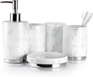 Willow & Ivory Bathroom Accessories Set