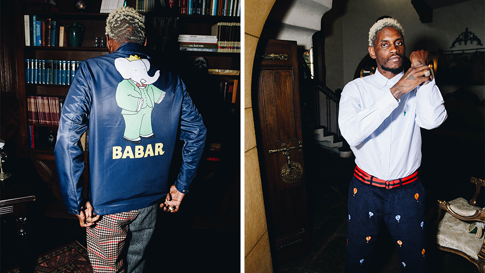 A$AP Nast modeling looks from the new collection.