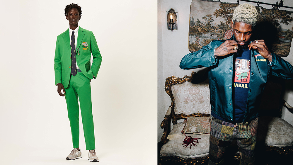 The recreation of Babar's signature green suit; a coach's jacket and tee.