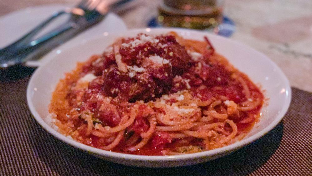 Blue Crab Meatballs and Spaghetti, Maialino Mare