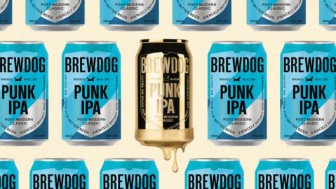 BrewDog gold beer can
