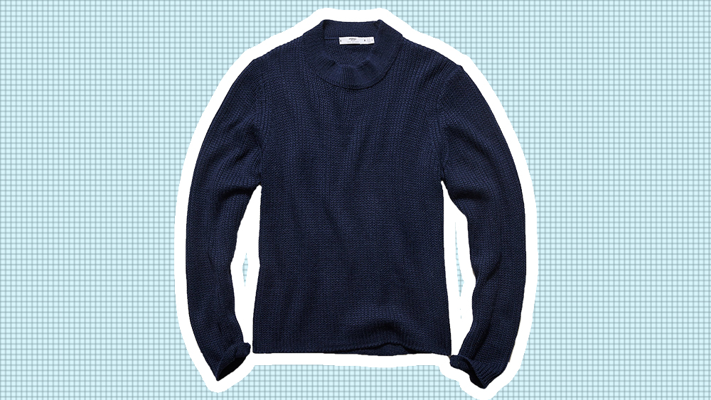 Inis Meáin mock neck sweater