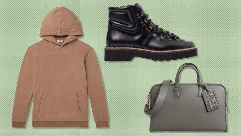 SSam hoodie, Tod's boots, Aviteur weekender