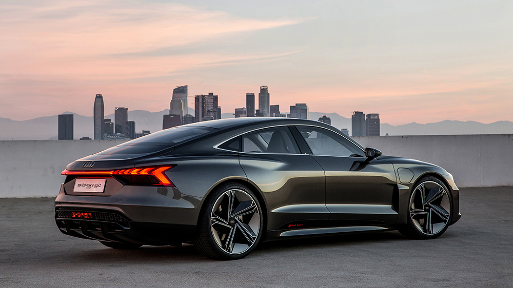 The Audi e-tron GT concept in 2018