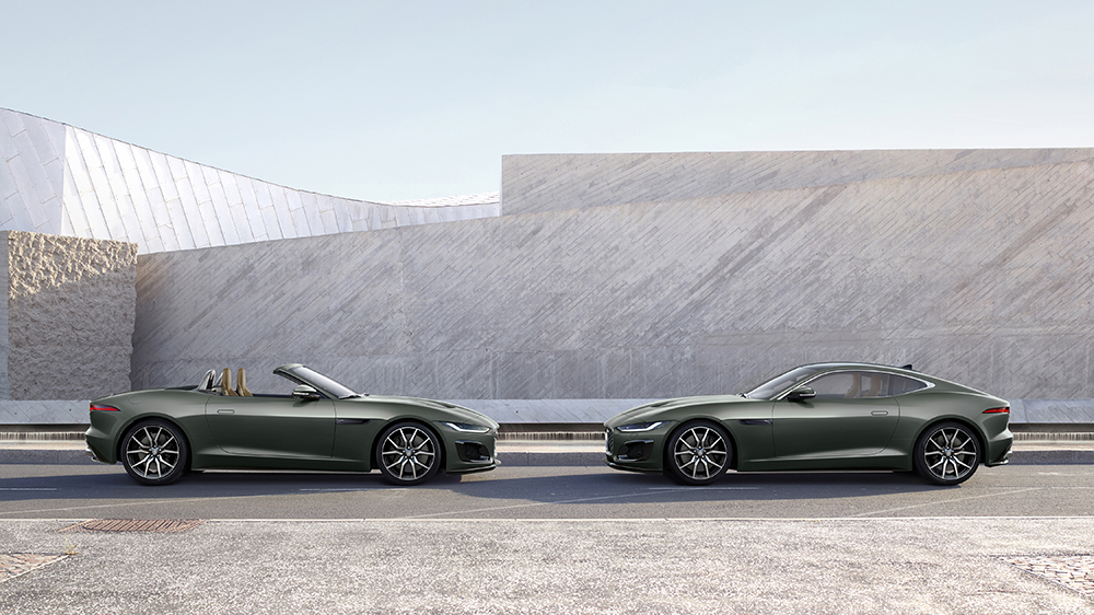 The 2021 F-Type Heritage Edition 60 and a vintage E-Type