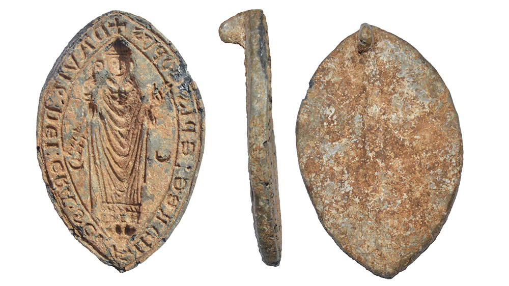 A medieval seal matrix in the name of David, Bishop of St Andrews, believed to be a forgery