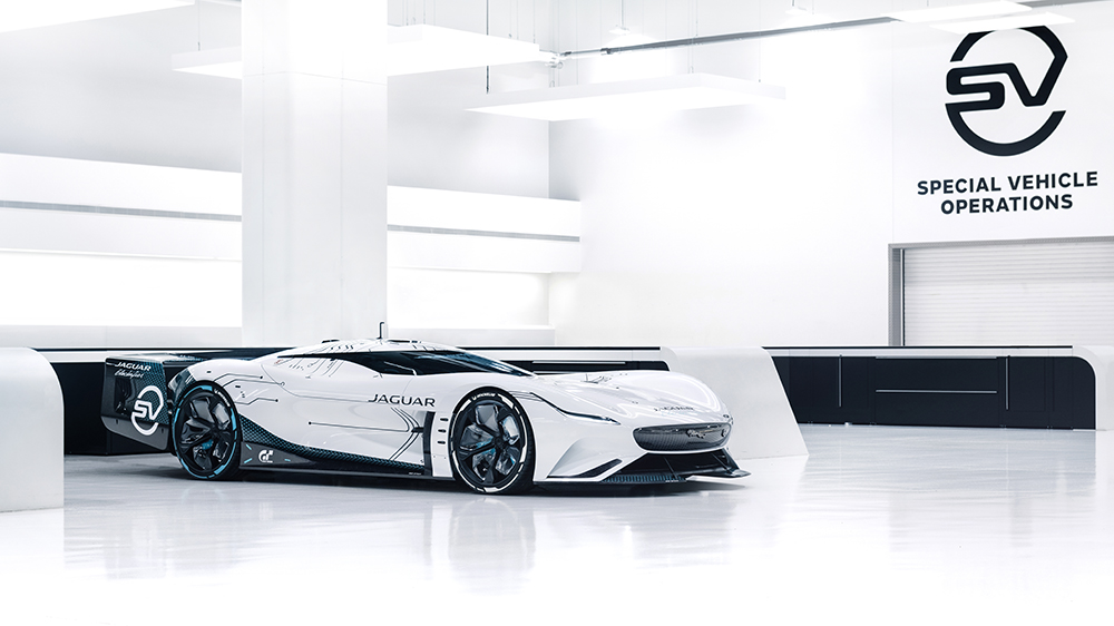 The physical model of the Jaguar Vision Gran Turismo SV