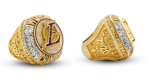 The Los Angeles Lakers 2019-2020 NBA Championship ring