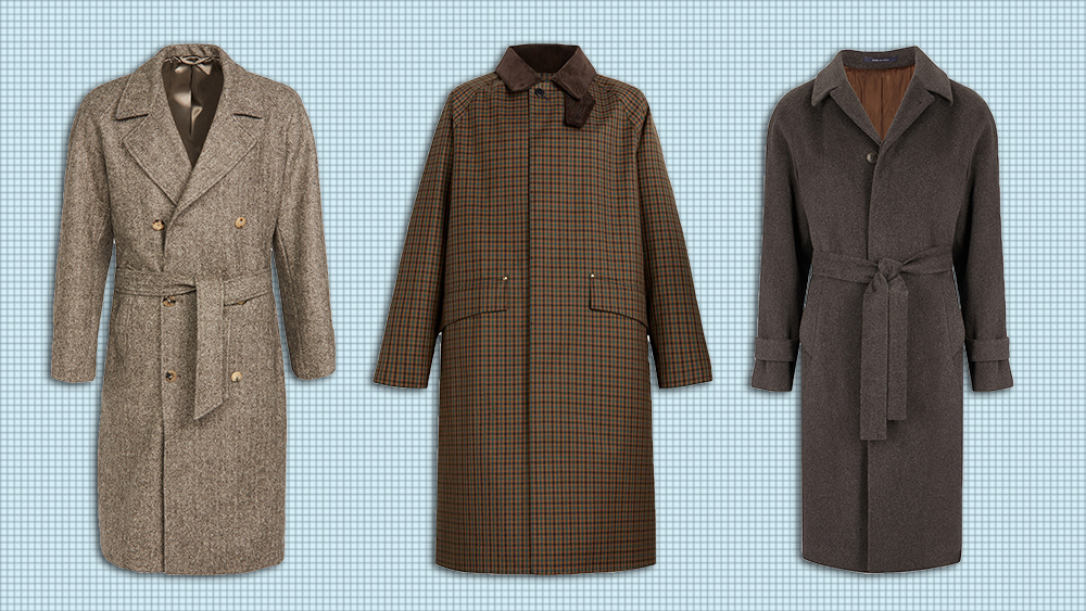 Raglan coats from De Bonne Facture, Mackintosh and Gaiola