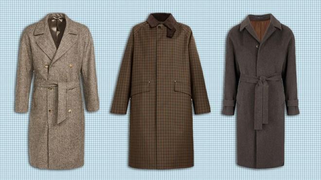 Raglan coats from De Bonne Facture, Mackintosh and Gaiola
