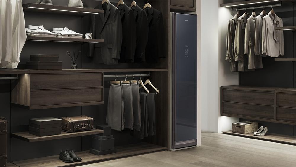 Samsung AirDresser fits into a walk-in closet.