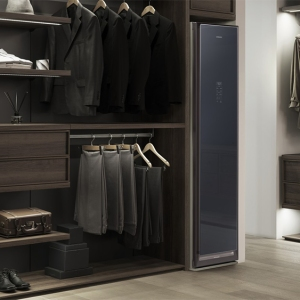 Samsung AirDresser fits into a walk-in closet.