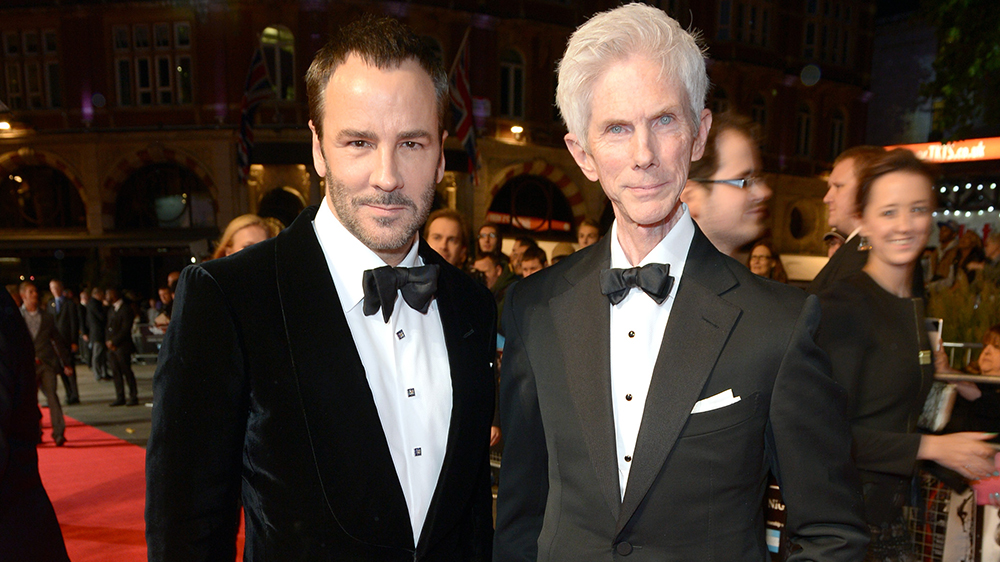 """Tom Ford and Richard Buckley attend the European Premiere of """"Captain Phillips"""" during the 57th BFI London Film Festival in partnership with American Express® at Odeon West End on Wednesday Oct. 9, 2013 in London. (Photo by Jon Furniss/Invision for BFI/AP Images)"""