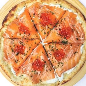 wolfgang puck spago smoked salmon pizza