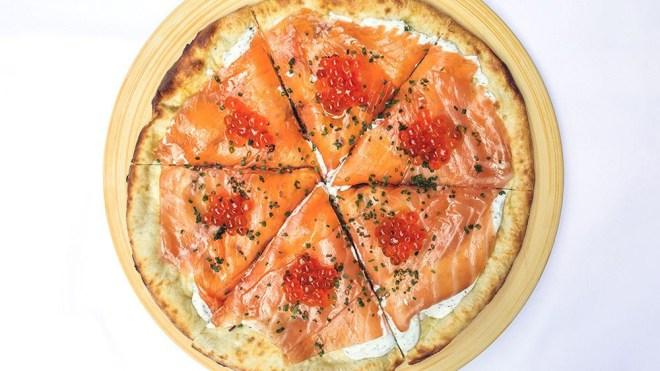 wolfgang puck spago smoked salmon pizza