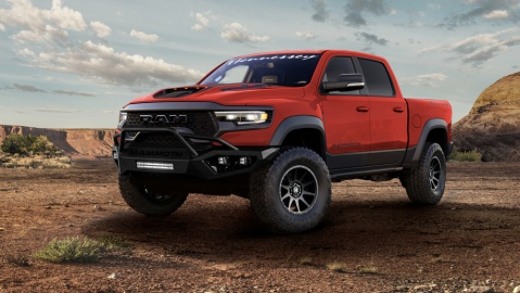 The Limited-Edition Hennessey Mammoth 1000 is a reimagined 2021 Ram 1500 TRX truck.