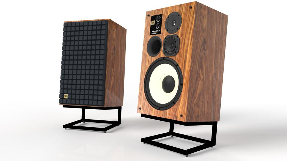 JBL's L100 Classic 75 loudspeakers.