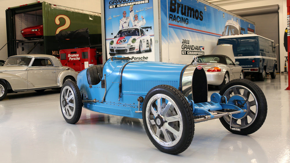 A 1925 Bugatti Type 35 recently restored by the Brumos Collection.