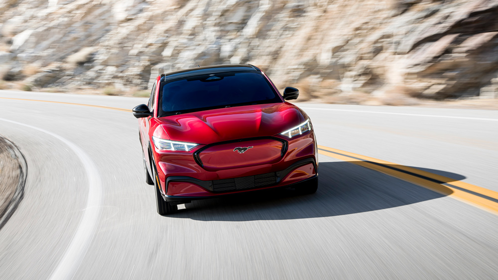 The 2021 Ford Mustang Mach-E.