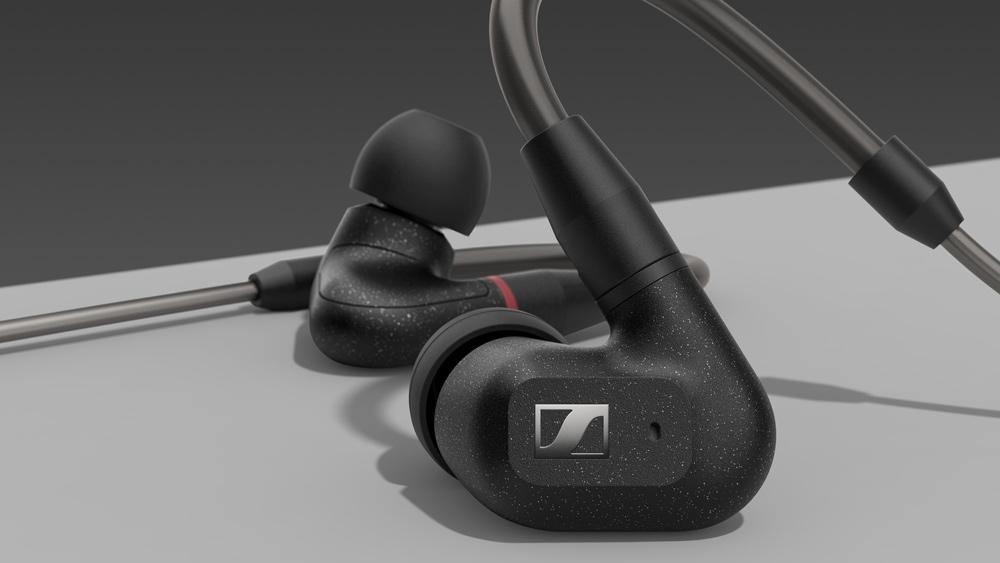 The Sennheiser IE 300 in-ear headphones.