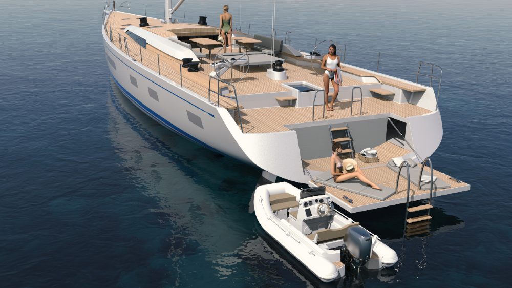 The Nautor's Swan 88, the first in a new Maxi series, was designed with 'optimized appendages' to deliver both maximum speed and comfort.