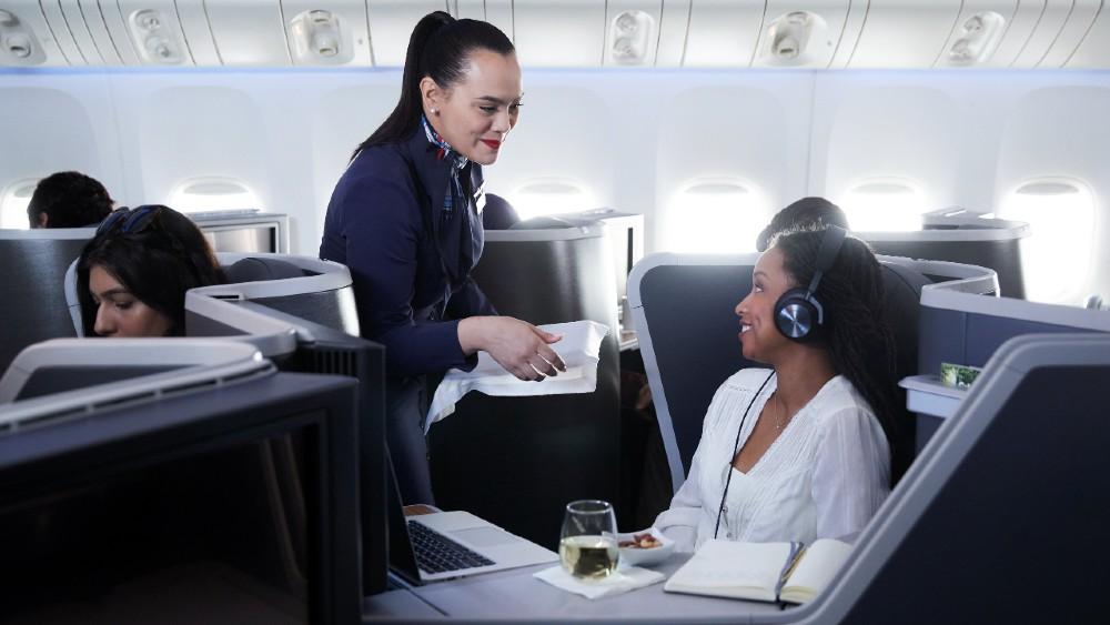 American Airlines premium cabin service