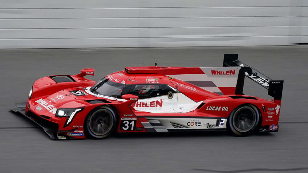 The Wheelen Engineering Racing Cadillac DPi during a qualifying run for the 2021 Rolex 24 at Daytona..