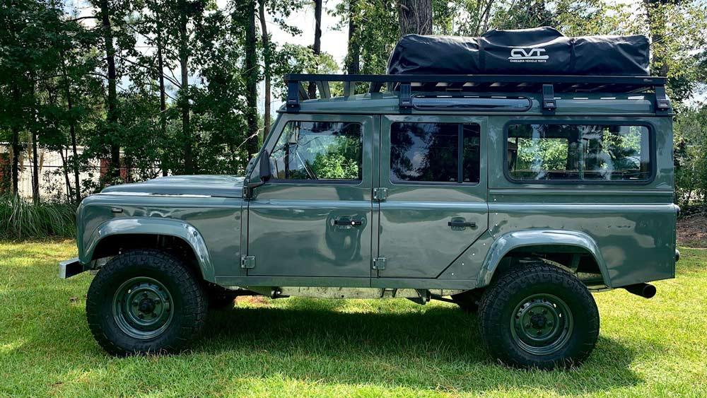 A restomod Land Rover Defender 110 from Osprey Custom Cars.