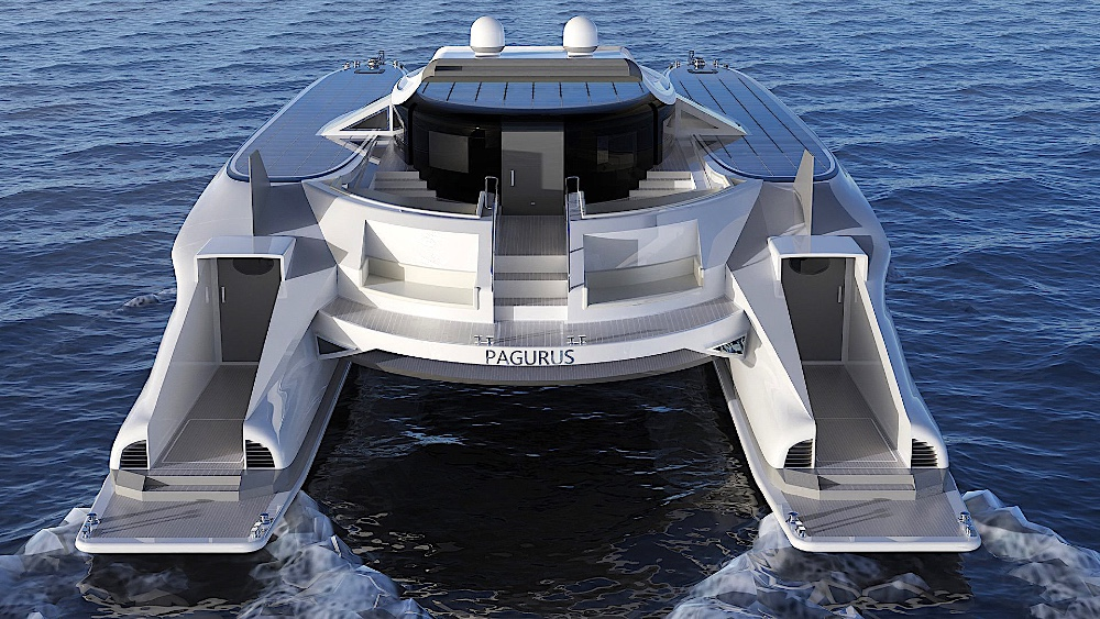 This superyacht has treads that let it leave the water and crawl on to shore