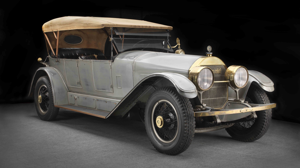 A 1923 Locomobile Model 48 Series 8 Sportif that's in the Brumos Collection car museum.
