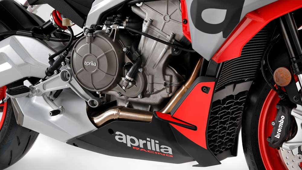 The Aprilia Tuono 660 motorcycle.