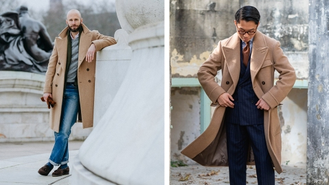 The coat worn by Simon Crompton and Buzz Tang.