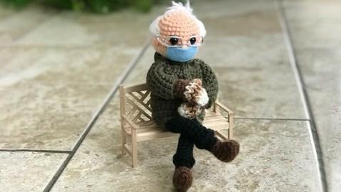 Bernie Sanders Crochet Doll