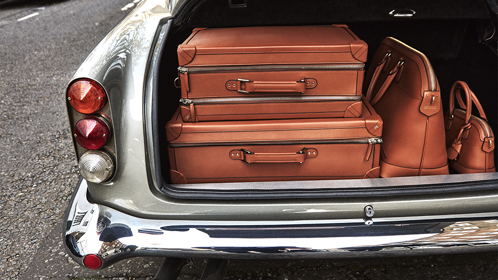 An assortment of Tanner Krolle luggage.