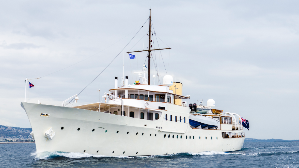 The 90-year-old yacht is being restored to its former glory