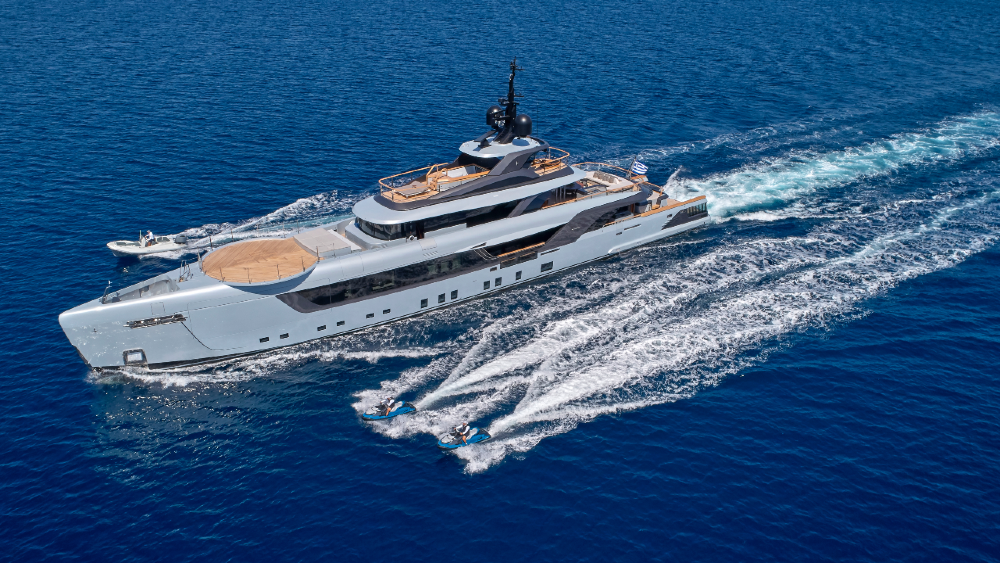 Geco is a new Superyacht from Admiral Yachts That Was Designed as a Party Platform