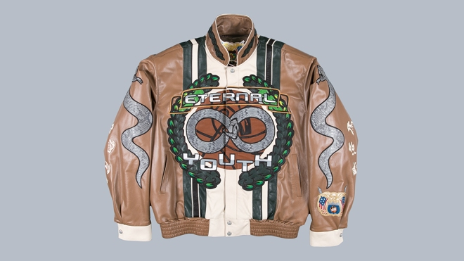 The jacket created by Advisory Board Crystals and Jeff Hamilton.