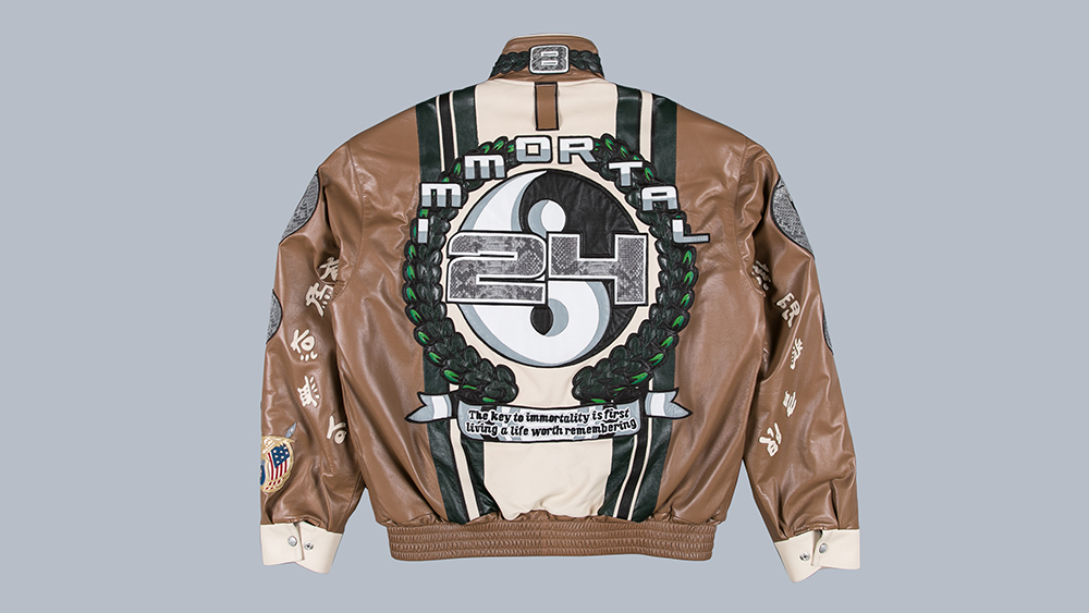 The back of the commemorative jacket.