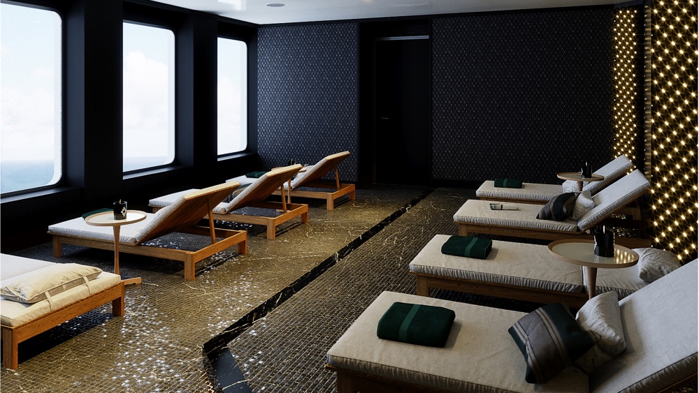 This eco-friendly, luxurious cruise ship even has its own spa deck