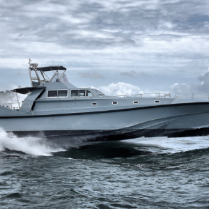 This 75-foot yacht was designed to travel in the roughest seas