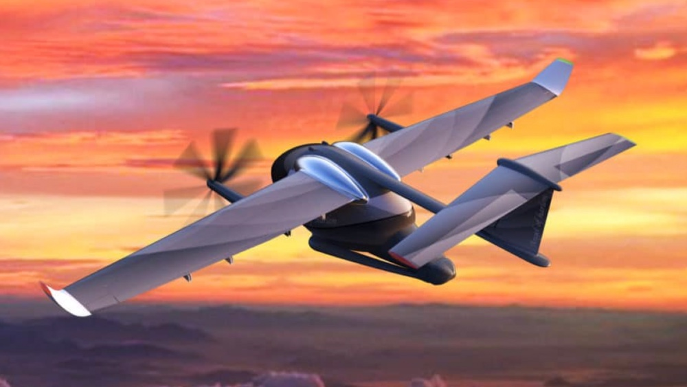 This two passenger electric plane can take off and land on a rooftop