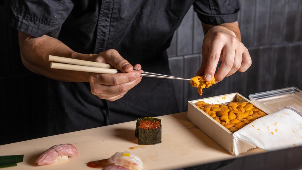 Sunset Sushi la uni sea urchin